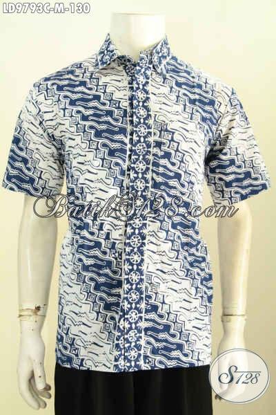 Batik Kemeja Keren Lengan Panjang Halus, Busana Batik Elegan Nan Istimewa Yang Membuat Pria Terlihat Gagah Dan Keren Hanya 160K, Size M