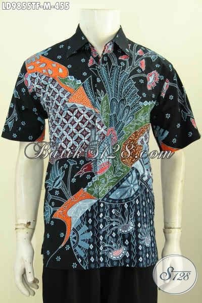 Olshop Baju Batik Paling Up To Date, Sedia Hem Lengan Pendek Tulis Full Furing Desain Keren Tampil Lebih Gaya [LD9855TF-M]