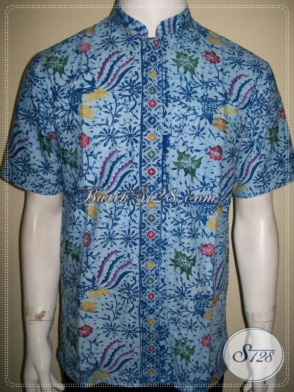 Trend Kemeja Batik Pria 2013 Model Koko Baju Batik Kerah Shanghai