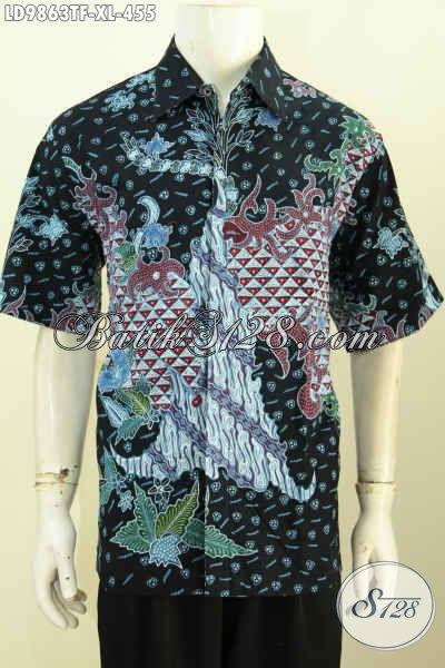 Jual Online Baju Batik Modern, Pakaian Batik Premium Nan Istimewa Kwalitas Bagus, Spesial Untuk Lelaki Dewasa Tampil Berkelas Harga 400 Ribuan [LD9863TF-XL]