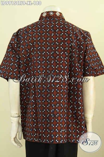 Produk Baju Batik Pria Kekinian, Hadir Dengan Kombinasi Katun Jepang Bikin Penampilan Lebih Gaya Dan Keren, Size XL