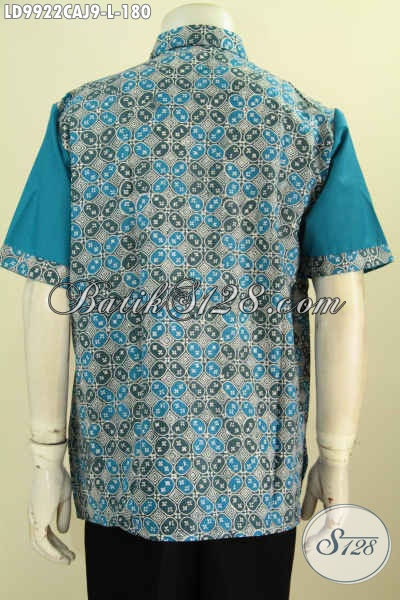 Baju Batik Modis Lengan Pendek Cocok Buat Kerja Dan Jalan-Jalan, Hem Batik Kombinasi Katun Jepang Cap Warna Alam Harga 148K, Size L