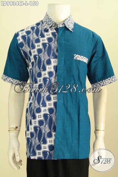 Pilih Pilih Model Baju Batik Pria Kombinasi Polos Yang Elegan Toko