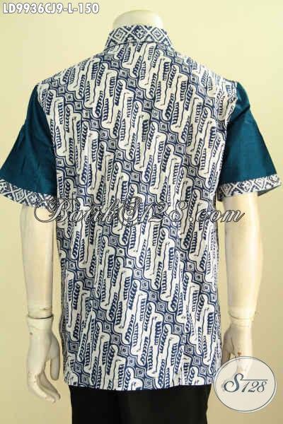 Batik Hem Proses Cap Kombinasi Katun Jepang, Baju Batik Solo Istimewa Untuk Penampilan Lebih Gaya Harga 150K, Size L