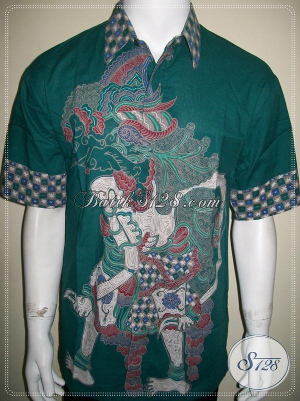 Kemeja Batik Wayang Motif Jagal Abilowo / Bima, Batik Tulis [LD997T-L]
