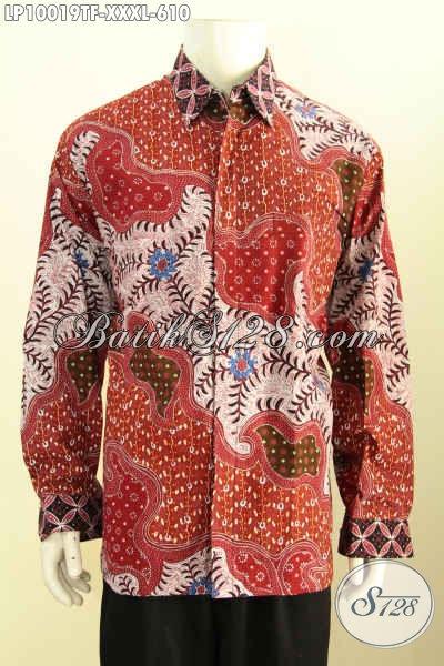 Batik Kemeja Kerja Nan Istimewa, Busana Batik Solo Halus Full Furing Lengan Panjang Bahan Adem Kwalitas Istimewa 600 Ribuan, Size XXXL