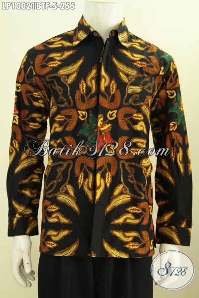 Batik Hem Modern Dengan Sentuhan Etnik, Pakaian Batik Solo Jawa Tengah Nan Istimewa Proses Kombinasi Tulis Daleman Full Furing Harga 255K [LP10021BTF-S]