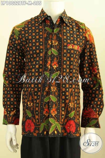 Kemeja Lengan Panjang Batik Solo Elegan, Hem Batik Istimewa Full Furing Motif Bagus Proses Kombinasi Tulis 200 Ribuan [LP10022BTF-M]