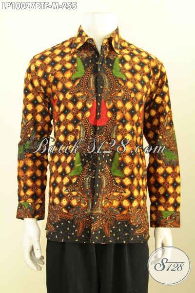 Jual Baju Kemeja Batik Istiemwa Buatan Solo Asli, Hem Batik Kwalitas Premium Proses Kombinasi Tulis Furing Lengan Panjang 200 Ribuan, Size M