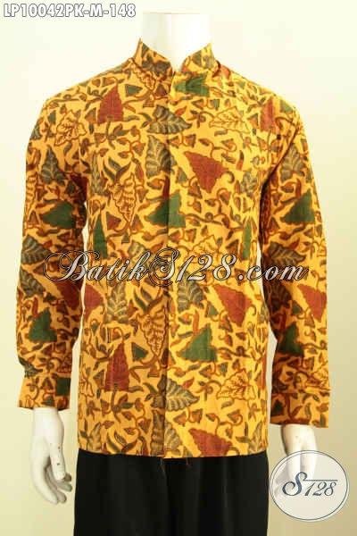 Pakaian Batik Pria Muda, Busana Batik Krah Shanghai Halus Motif Klasik Printing, Di Jual Online 148K, Size M