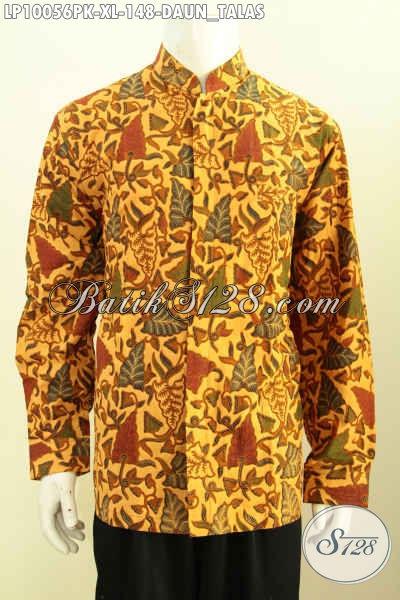 Jual Online Kemeja Batik Klasik Motif Daun Talas Size XL, Model Keren