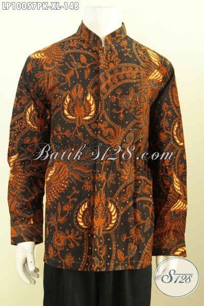 Toko Pakaian Batik Online Khusus Cowok, Sedia Hem Batik Lengan Panjang Size XL Kwalitas Bagus Bahan Adem Proses Printing Hanya 100 Ribuan