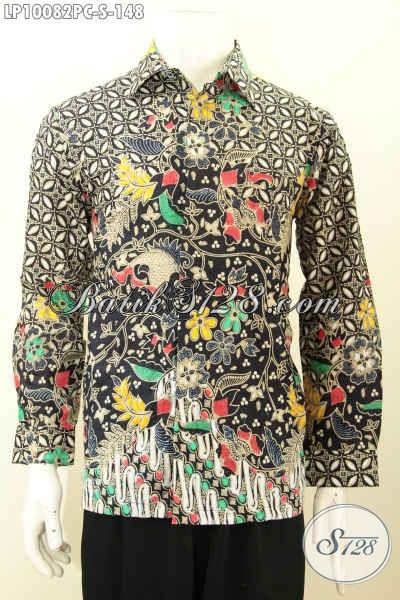 Model Baju Batik Lengan Panjang Pria Kwalitas Bagus Asli Dari Solo, Hem Batik Klasik Printing Elegan Untuk Acara Resmi, Size S