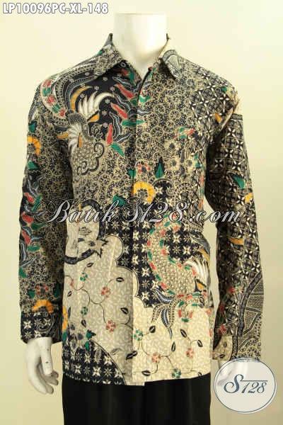 Model Baju Batik Cowok Size XL Lengan Panjang Motif Klasik, Baju Batik Printing Solo Halus Kwalitas Istimewa Dengan Harga Biasa