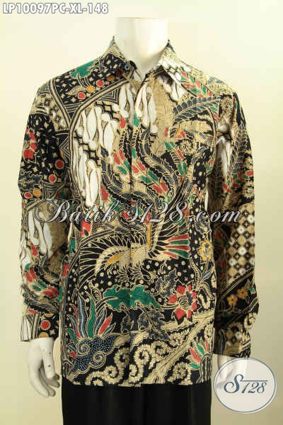 Model Baju Batik Solo Jawa Tengah Lengan Panjang Motif Klasik Mewah Proses Printing, Di Jual Online 148 Ribu, Size XL