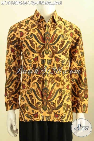 Batik Hem Solo Halus Motif Pisang Bali, Baju Batik Jawa Tengah Nan Elegan Kwalitas Istimewa Dengan Harga Biasa, Model Lengan Panjang Size M
