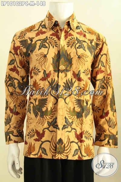 Model Baju Batik Solo Untuk Rapat Dan Acara Formal, Baju Batik Klasik Printing Lengan Panjang Bahan Adem Kwalitas Istimewa Harga 148K, Size M