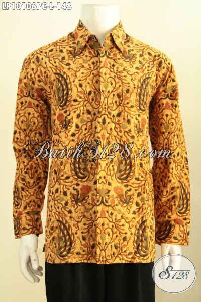 Juragan Baju Batik Online Pilihan Komplit, Sedia Kemeja Kerja Dan Rapat Motif Klasik Model Lengan Panjang Bahan Halus Harga 148K, Size L