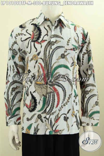 model baju batik pria masa kini motif cendrawasih