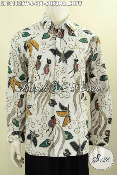 Baju Batik Formal Pria Model Terbaru, Kemeja Lengan Panjang Full Furing Motif Burung Kupu Bahan Adem Proses Kombinasi Tulis Harga 300K, Size L