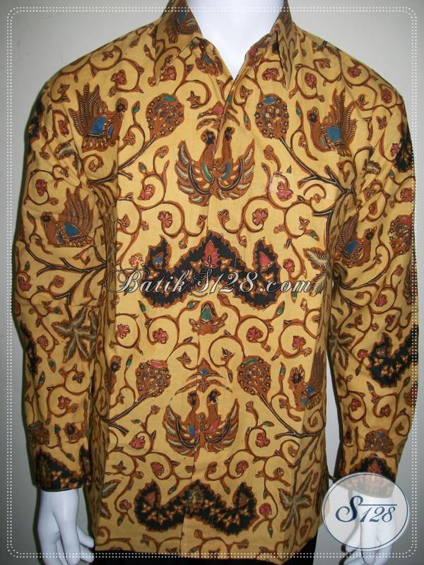 Toko Batik Pria Online, Batik Lengan Panjang Pria Motif Wahyu Tumurun Bledak