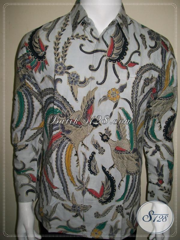 Hem Batik Klasik Modern Pria, Warna Putih Elegan Khas Batik Solo [LP1017BT-M]