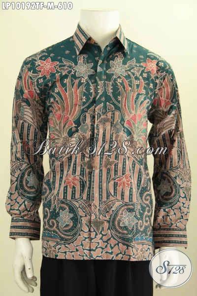 Model Baju Batik Pria Pejabat, Kemeja Batik Tulis Premium Full Furing Lengan Panjang Bahan Halus Kwalitas Istimewa, Penampilan Gagah Mempesona, Size M