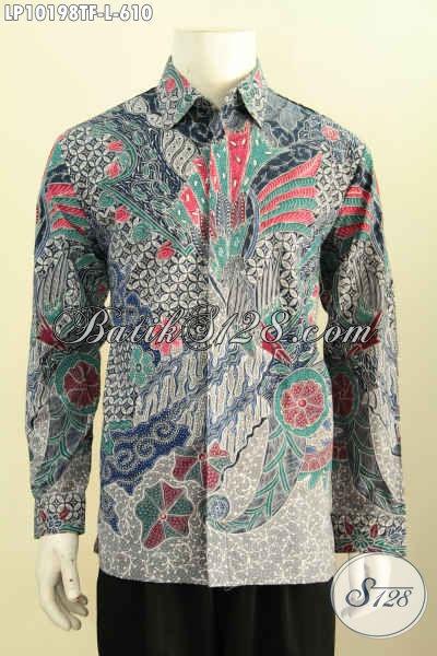 Model Baju Batik Pria Eksekutif, Hem Batik Tulis Solo Mewah Pake Furing Lengan Panjang Berkelas Yang Membuat Penampilan Lebih Istimewa Dan Gagah [LP10198TF-L]