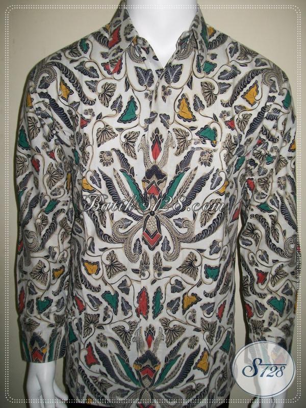 Jual Batik Elegan Lengan Panjang Untuk LakiLaki Motif Klasik