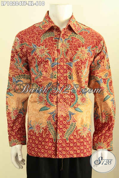 Model Baju Batik Pria Kantor, Kemeja Batik Mewah Bahan Adem Motif Klasik Proses Tulis, Busana Batik Premium Lelaki Dewasa Penampilan Makin Mempesona [LP10204TF-XL]