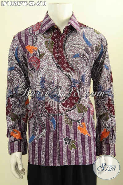 Model Kemeja Batik Lengan Panjang Pria Dewasa, Hem Batik Halus Full Furing Bahan Adem Motif Klasik Tulis, Pas Banget Untuk Rapat Dan Kondangan Tampil Elegan [LP10207TF-XL]