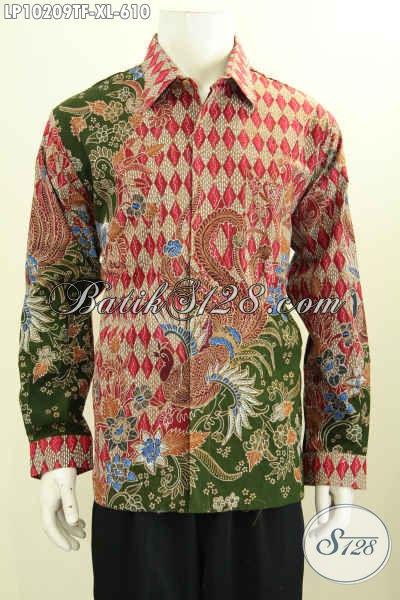 Model Baju Batik Kemeja Berkelas Full Furing, Pakaian Batik Terbaru Yang Membuat Lelaki Tampil Lebih Percaya Diri, Bahan Halus Proses Tulis Asli Hanya 610K [LP10209TF-XL]