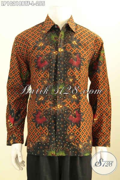 Model Baju Batik Klasik Halus Lengan Panjang Full Furing, Busana Batik Kombinasi Tulis Solo, Elegan Untuk Acara Formal [LP10218BTF-L]