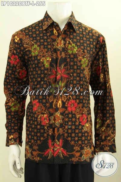 Model Baju Batik Pria Kantoran, Hem Batik Kerja Elegan Lengan Panjang Istimewa Proses Kombinasi Tulis Motif Bagus Bahan Adem Nyaman Di Pakai [LP10220BTF-L]