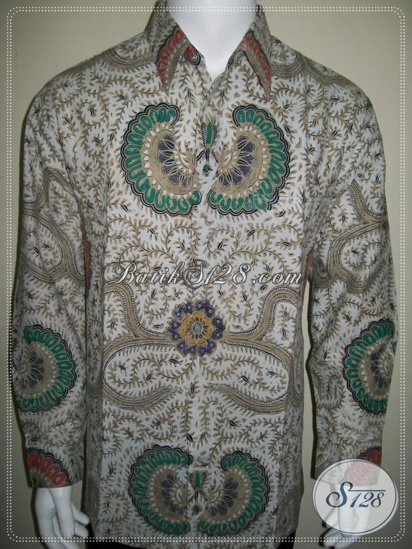 Kemeja Batik Klasik Tradisional Solo Lengan Panjang Corak Babon Angkrem [LP1022BT-XL]