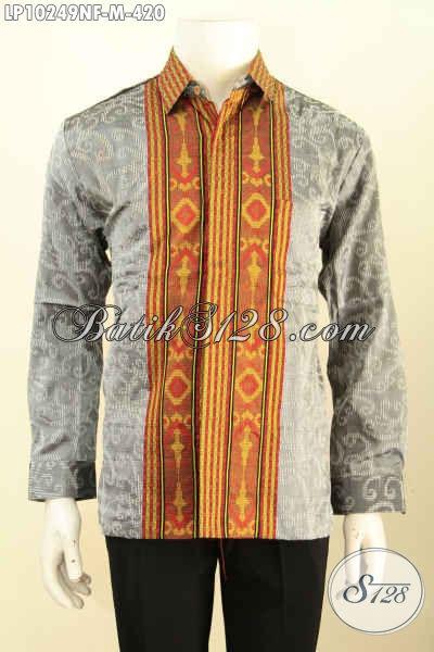 Model Baju Tenun Berkelas, Produk Pakaian Tenun Untuk Pria Muda Tampil Gagah Dan Berwibawa, Bahan Adem Motif Terkini Lengan Panjan Full Furing 400 Ribuan Saja [LP10249NF-M]