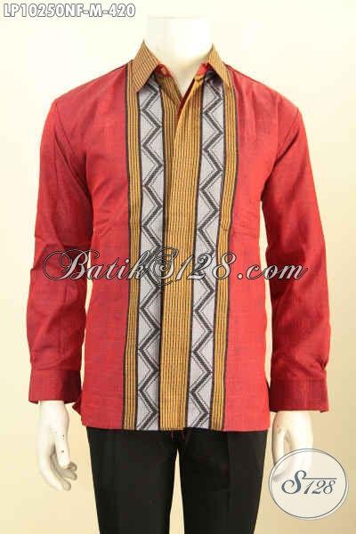 Model Baju Tenun Terbaru, Hadir Dengan Desain Motif Mewah Berkelas Bahan Halus Lengan Panjang Pake Furing, Cocok Untuk Acara Resmi [LP10250NF-M]