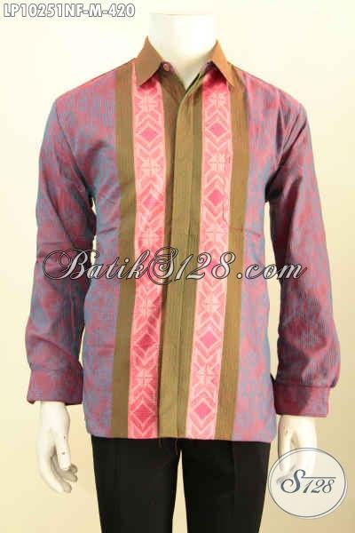 Model Baju Tenun Pria Terkini Hem Tenun Mewah Khas Jawa