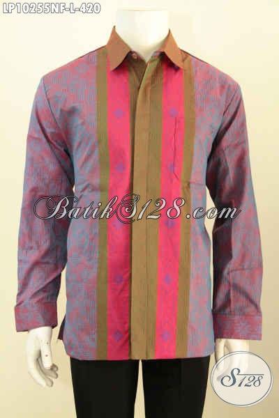 Model Baju Tenun Premium Yang Membuat Pria Terlihat Mewah Dan Berkelas, Busana Hem Tenun Lengan Panjang Full Furing Hanya 420 Ribu [LP10255NF-L]