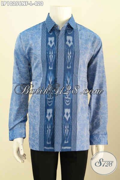Model Baju Tenun Lengan Panjang Motif Terbaru, Pakaian Berkelas Untuk Pria Sukses Tampil Gagah Mempesona Daleman Pake Furing, Size L