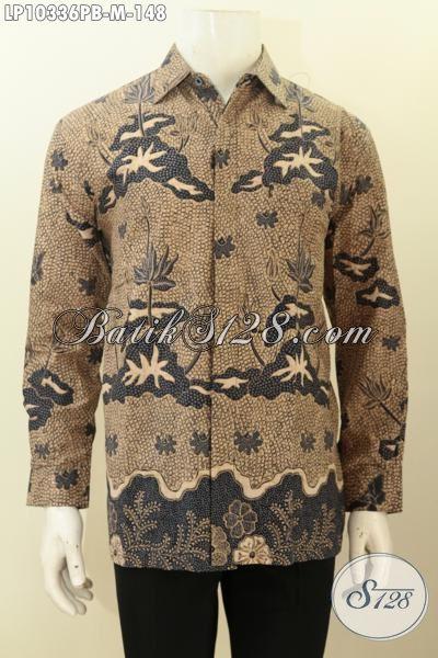 Model Baju Batik Pria Terbaru, Hadir Dengan Lengan Panjang Berpadu Motif Berkelas Proses Printing, Bahan Adem Nyaman Di Pakai [LP10336PB-M]