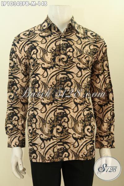Model Baju Batik Solo Lengan Panjang Motif Terkini, Busana Batik Istimewa Yang Cocok Untuk Rapat Dan Acara Resmi Hanya 100 Ribuan [LP10340PB-M]