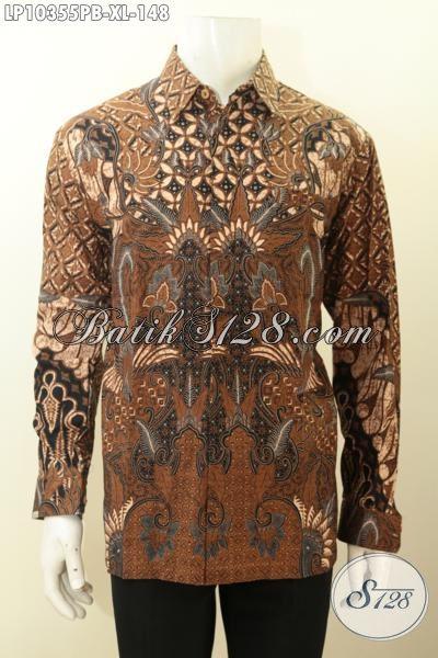 Busana Batik Kerja Nan Elegan Lengan Panjang Bahan Adem Proses Printing Kwalitas Istimewa, Di Jual Online 148K, Size XL