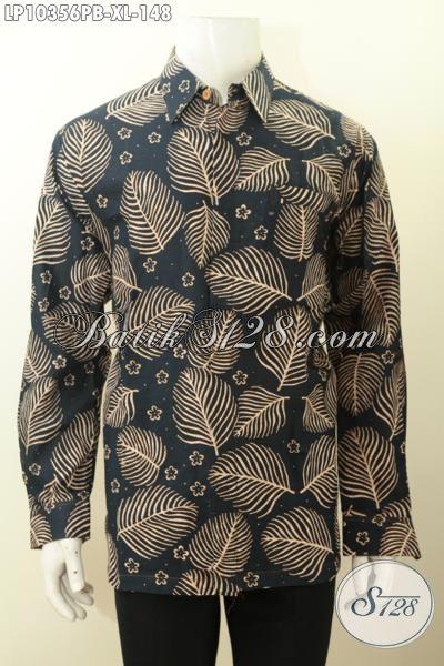 Model Baju Kemeja Pria Lengan Panjang, Pakaian Batik Solo Terbaru Pilihan Lengkap Untuk Tampil Gagah Dan Berkelas, Size XL