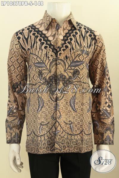 Batik Hem Printing Cabut Lengan Panjang Bahan Adem Motif Klasik, Pas Banget Untuk Rapat Hanya 148 Ribu, Size S