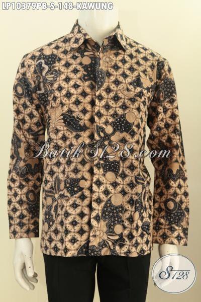 Baju Batik Motif Klasik Kawung, Hem Batik Solo Asli Proses Printing Bahan Adem Nyaman Di Pakai Hanya 148K, Size S