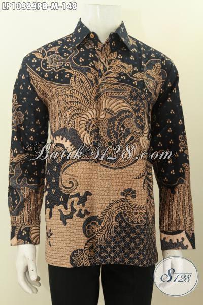 Pusat Baju  Batik Online Pria, Sedia Kemeja Batik Solo Istimewa Lengan Panjang Bahan Adem Motif Klasik Kwalitas Bagus Untuk Kerja Dan Rapat Harga 148K, Size M