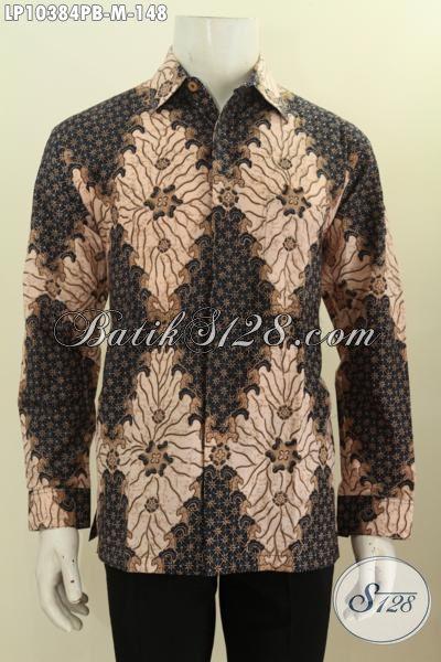 Pakaian Hem Batik Solo Istimewa, Kemeja Batik Halus Lengan Panjang Bahan Adem, Pas Untuk Acara Resmi, Size M