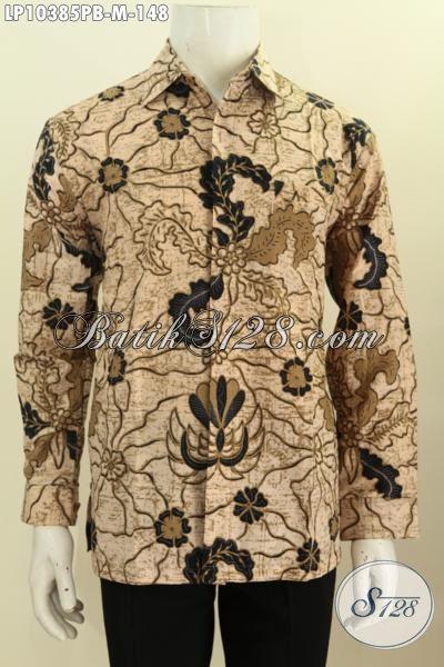 Pakaian Batik Pria Muda Yang Bikin Penampilan Mempesona, Busana Batik Solo Jawa Tengah Halus Motif Klasik Printing Cabut Harga 148K, Size M