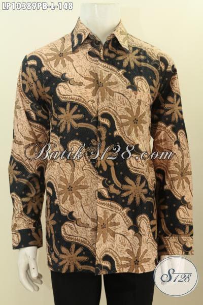 Busana Batik Solo Jawa Tengah Halus Lengan Panjang Bahan Adem Motif Klasik Yang Membuat Lelaki Terlihat Tampan Dan Berkelas Hanya 148 Ribu, Size L